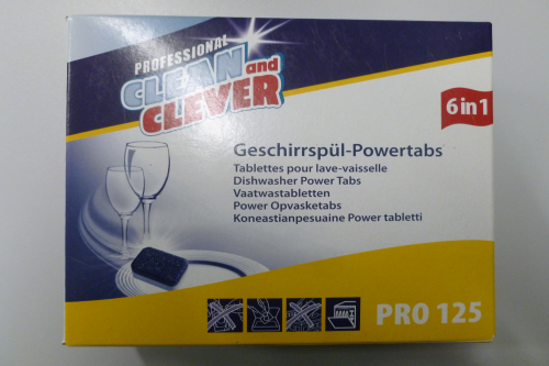PRO125 Geschirr-Powertabs 6in1 CLEAN and CLEVER, 60 Tabs á 20g